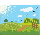 Summer meadows background Royalty Free Stock Photo