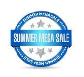 summer mega sale Seal stamp message concept illustration design stock image