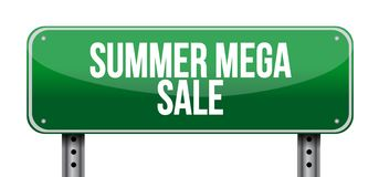 summer mega sale Street sign message concept illustration isolated royalty free stock photos