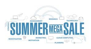 summer mega sales diagram plan concept isolated stock photo