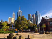 Summer in melbourne stock images