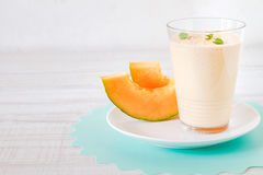Summer melon smoothie Stock Photography