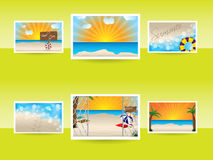 Summer memories with various photos Stock Photography