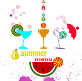 Summer menu Stock Images