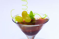 Summer menu.Jelly dessert with grapes Royalty Free Stock Image