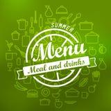 Summer menu label design Stock Image
