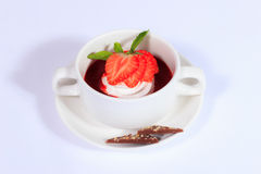 Summer menu.Strawberry dessert. Stock Photo
