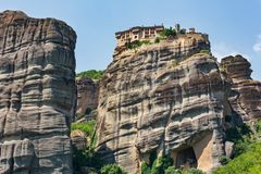 Summer rocky Meteora monasteries, Greece stock photography