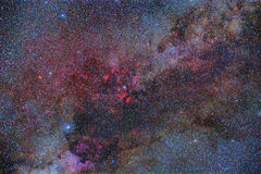 Summer Milky Way. Imaged with a telescope and a scientific CCD camera stock images
