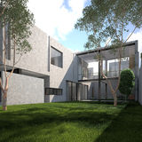 Summer modern minimalist house Stock Image