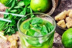 Summer Mojito cocktail Stock Photos