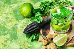 Summer Mojito cocktail Royalty Free Stock Photography