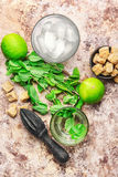 Summer Mojito cocktail Stock Images