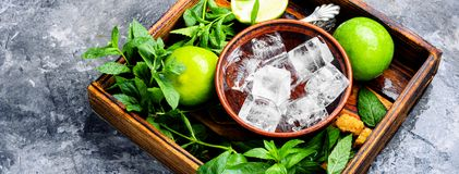 Summer mojito drink Royalty Free Stock Photography