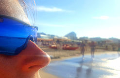 Summer moments reflected in the glasses Stock Images