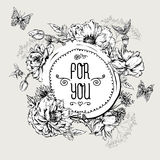 Summer Monochrome Vintage Greeting Card with Stock Images