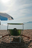 Summer in Montenegro. On the beach Royalty Free Stock Image
