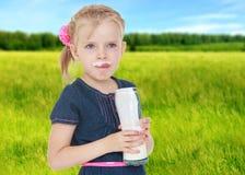 Summer mood a little girl. Stock Photos