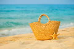 Free Summer Mood, Straw Bag On The Background Of The Sea. Royalty Free Stock Photo - 97658685