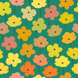 Summer mood. vector floral pattern Stock Images