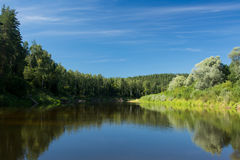 Summer moods. Magnificent view on the Gauja river in Latvia on a beautiful summer day Stock Photography