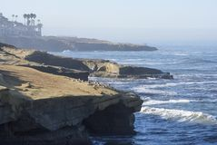 Summer morning at beautiful Sunset Cliffs in San Diego Stock Photos