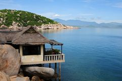 A summer morning in Cam Ranh bay Royalty Free Stock Image