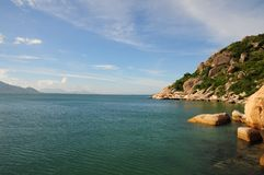 A summer morning in Cam Ranh bay Stock Photo