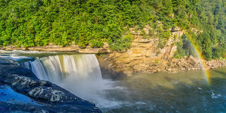Summer morning on Cumberland Falls Royalty Free Stock Images