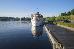Summer morning in the harbour of Lappeenranta. Finland Royalty Free Stock Images