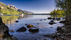Summer Morning on Jenny Lake Stock Photos