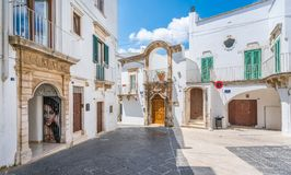 Summer morning in Martina Franca, province of Taranto, Apulia, southern Italy. Martina Franca, or only Martina, is a town and municipality in the province of stock photos