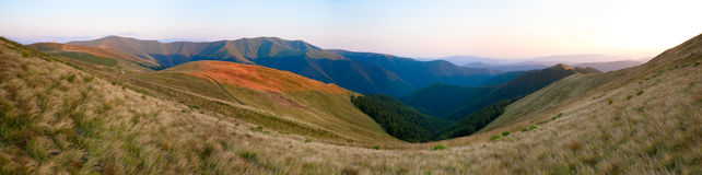 Summer morning mountain panorama Royalty Free Stock Photos
