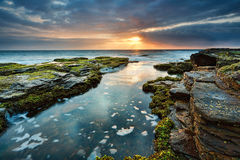 Summer morning at North Narrabeen reef Stock Images
