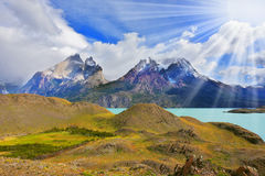 Summer morning in Patagonia Royalty Free Stock Photo
