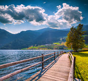Summer morning scene on the Muta lake Stock Photos