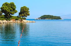 Summer morning view from Paradise Beach Albania. Royalty Free Stock Image