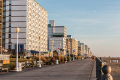 Summer Morning on Virginia Beach Boardwalk Royalty Free Stock Images