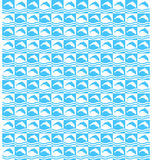 Summer mosaic pattern with dolphins Stock Images