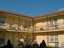 Summer Motel. A view of a classic colorful motel in a NJ beach town Stock Photography