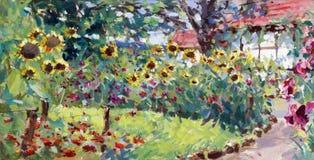 Free Summer Motif Painting Royalty Free Stock Photo - 33442185