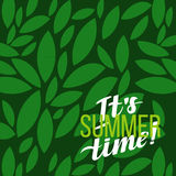 Summer Motivation Typographic Poster.  Vector illustration. Stock Photography