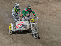 Summer motocross on the territory of Ramenskoye district, Moscow Royalty Free Stock Photography