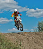 Summer motocross on the territory of Ramenskoye district, Moscow Stock Photography