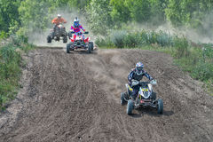 Summer motocross on the territory of Ramenskoye district, Moscow Stock Image