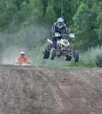 Summer motocross on the territory of Ramenskoye district, Moscow Stock Photos