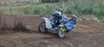 Summer motocross on the territory of Ramenskoye district, Moscow Royalty Free Stock Photos