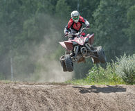 Summer motocross on the territory of Ramenskoye district, Moscow Royalty Free Stock Image
