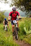 Summer mountain bike competition Stock Image