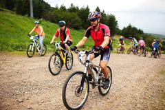 Summer mountain bike competition Stock Photos
